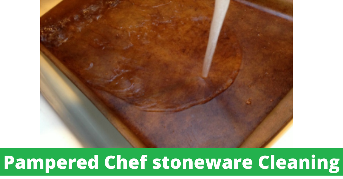 Pampered Chef stoneware Cleaning